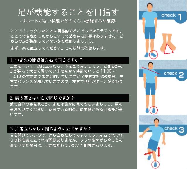 足の機能テスト