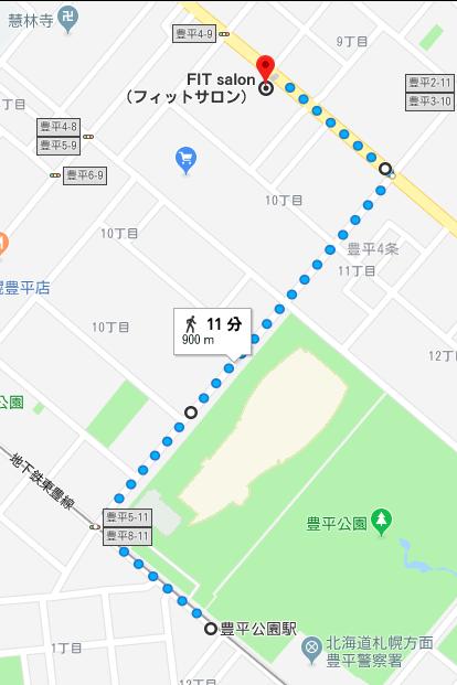 MAP_豊平公園駅から